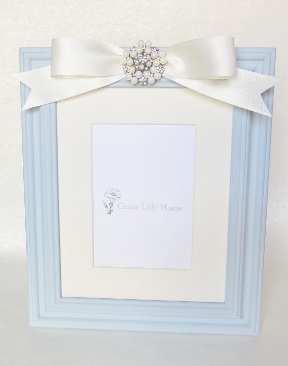 Baby Boy Nursery Gift Picture Frame Blue Choose Your Size 4x6 Etsy