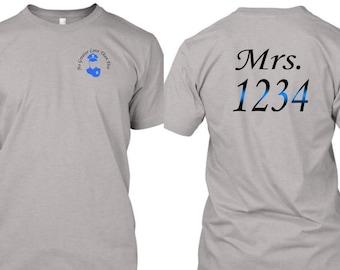 Law Enforcement Wives T-Shirt  Mrs