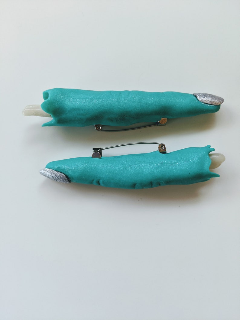 Severed Zombie Finger Pin with Sparkle Nail Polish image 0