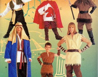 childrens shepard genie hercules robin hood sizes 678 costume patterns mccalls 352 mccalls 8951 uncut