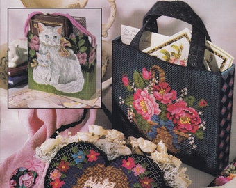 Tote A Long Totes Annie/'s Plastic Canvas Pattern Quilt Butterfly Beach