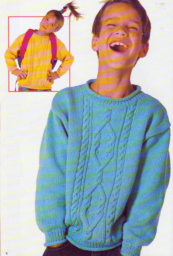 Knitting Patterns For Boys And Girls 2 To 14 Years In Etsy