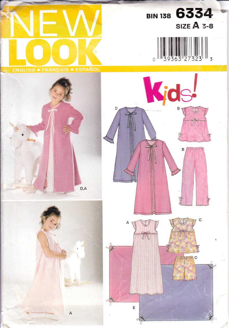 New Unicorn nightgown girls flutter sleeve night gown pajamas girl sizes