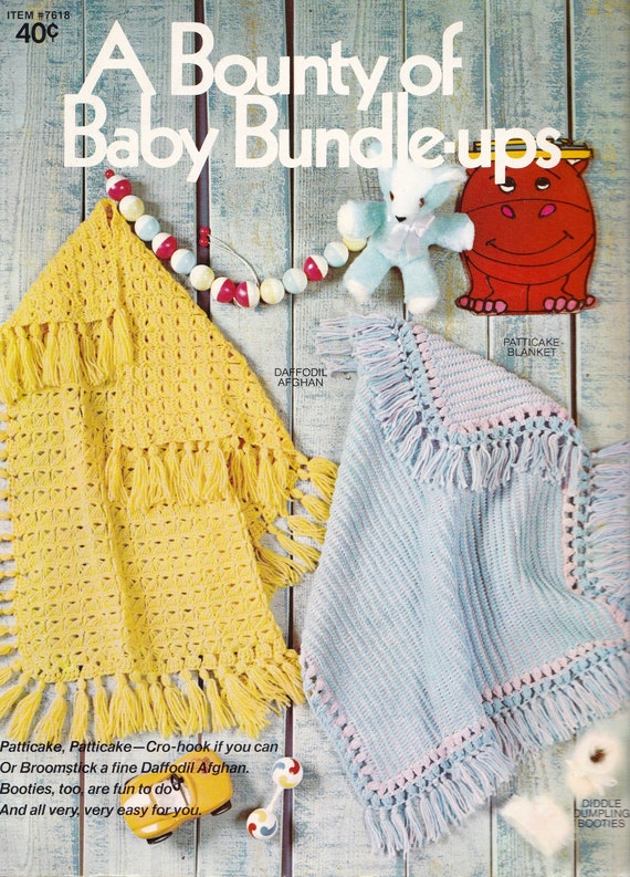 A Bounty Of Baby Bundle Ups Broomstick Lace Baby Blanket Etsy