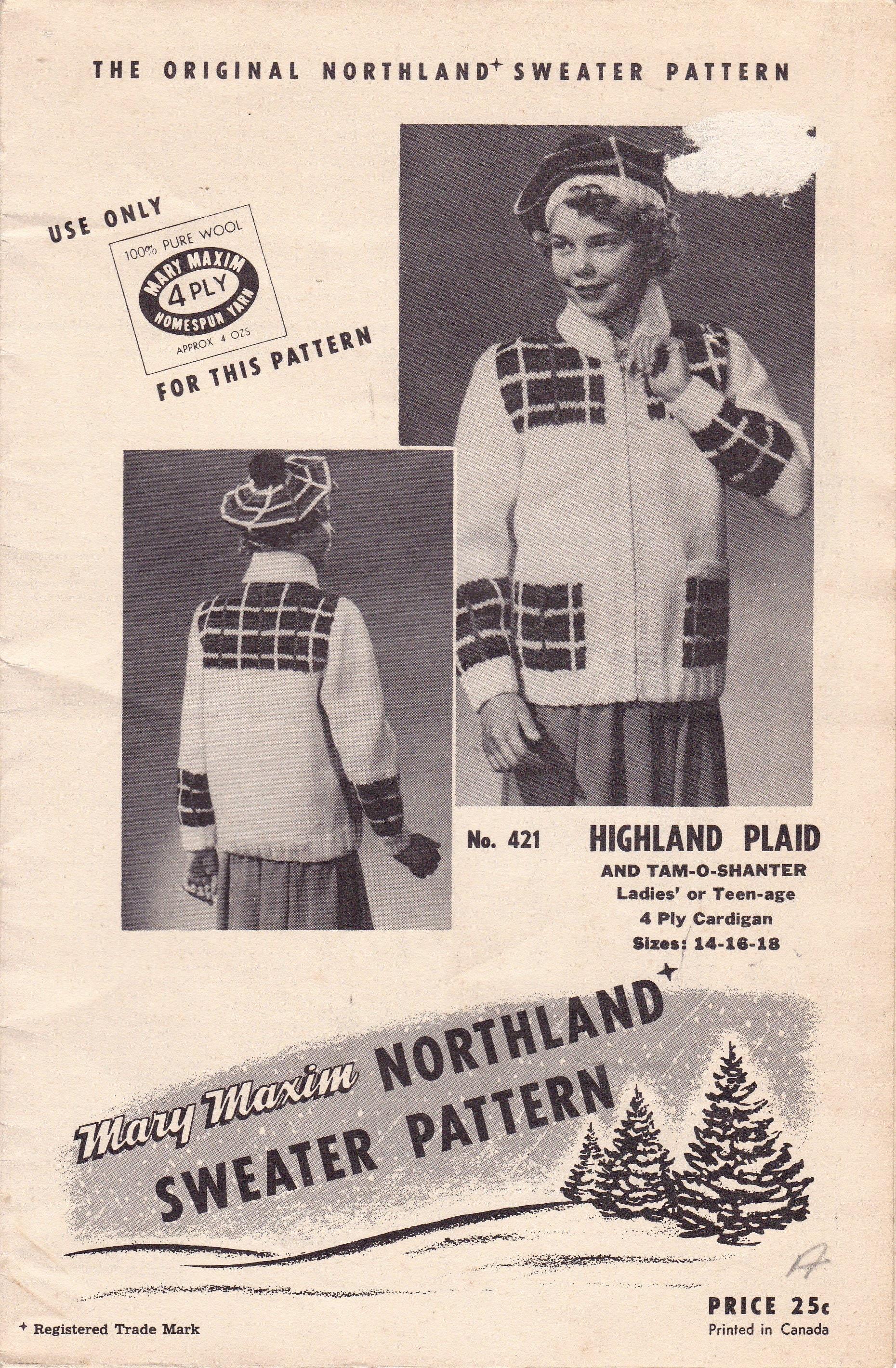 3fb70b3e87c Highland Plaid Shawl Collar Cardigan and Tam O Shanter
