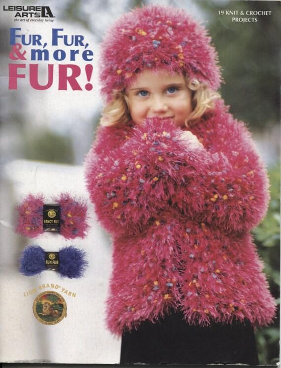 Fur Fur and More Fur Knitting Pattern Crochet Pattern by