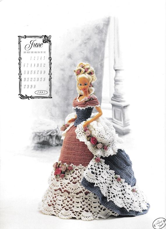 Miss June 1993 Calendar Bed Doll Society Fashion Doll Dress Crochet Pattern Victorian Lady Centennial Fits An 11 5 Bed Doll