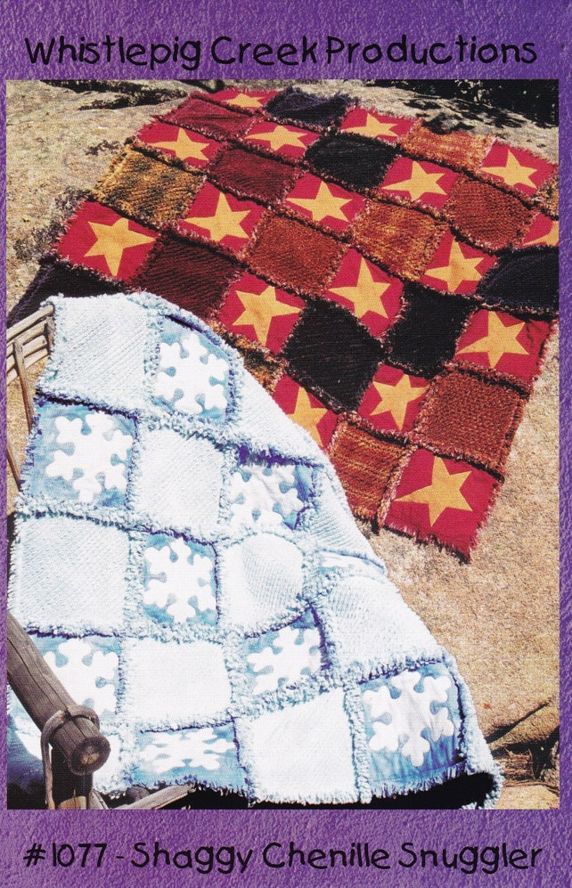 Rag Quilt Sewing Patterns Snowflake Quilt 50 X 50 Finished Etsy