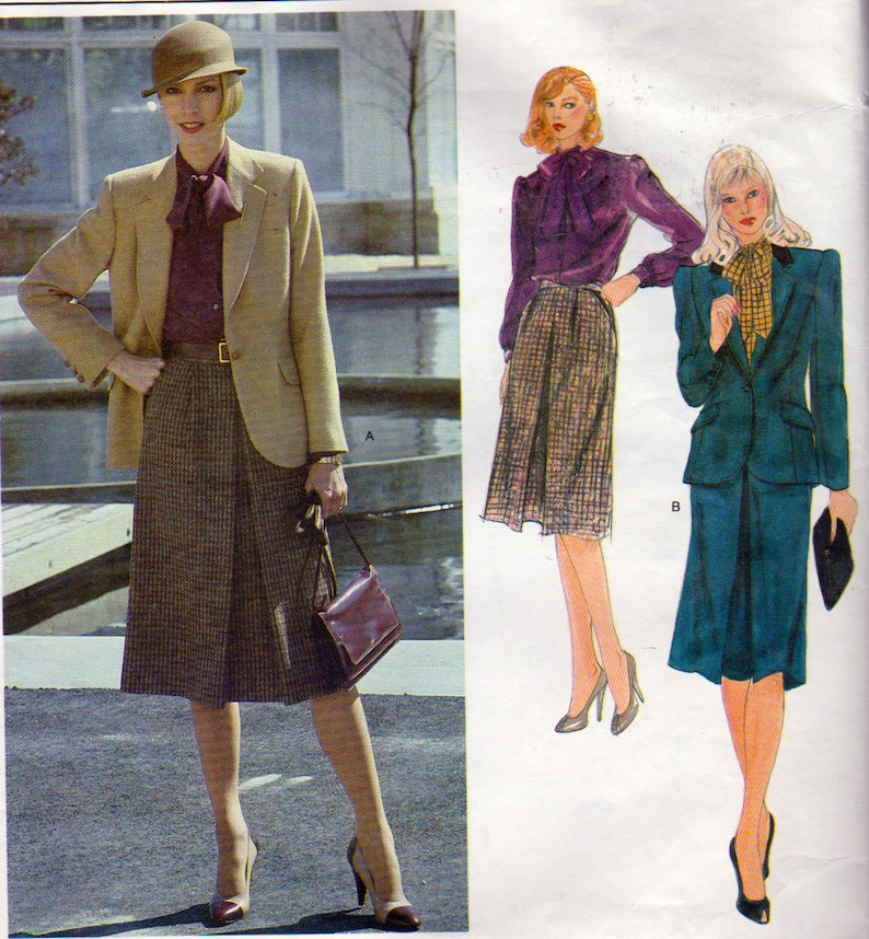 252b27f7c02 Designer Retro Skirt Suit Front Pleated Skirt Jacket and
