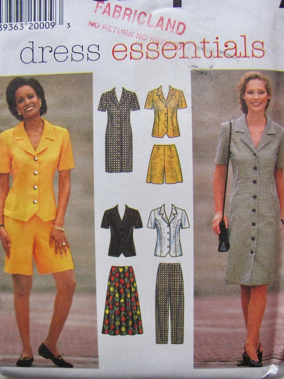 068b6200ae0 Button Front Sheath Dress or Top with Back Ties Flared Skirt