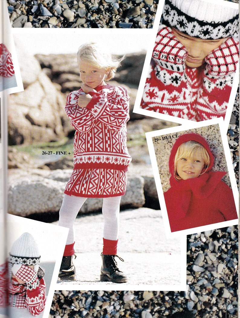e8fd1c034a9 Pingouin Knitting For Children Cabled Dresses Fair Isle