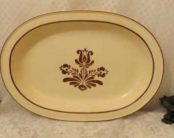 "70's Pfaltzgraf Village 16"" Large Meat Serving Platter"