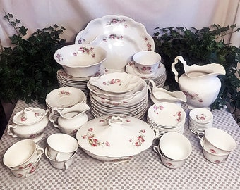 Antique 1905 Homer Laughlin The Angelus China Dinnerware Set for 8