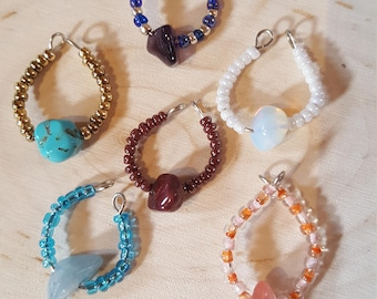 Unique Beaded Wine Charms