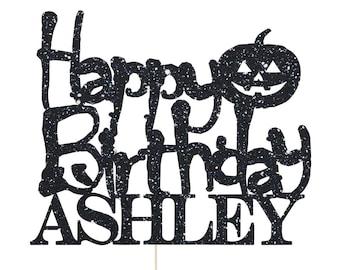 Halloween Birthday Cake Topper, Halloween Birthday Party Decorations, Halloween Birthday Decoration, Halloween Party Decoration