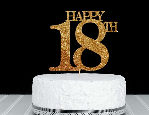 Enjoyable 18Th Birthday Cake Topper 18 Birthday 18Th Cake Topper 18 Cake Etsy Funny Birthday Cards Online Elaedamsfinfo