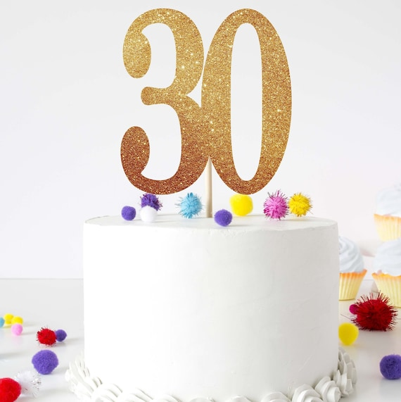 Excellent 30 Birthday Cake Topper 30 Cake Topper For Her 30Th Birthday Etsy Funny Birthday Cards Online Alyptdamsfinfo