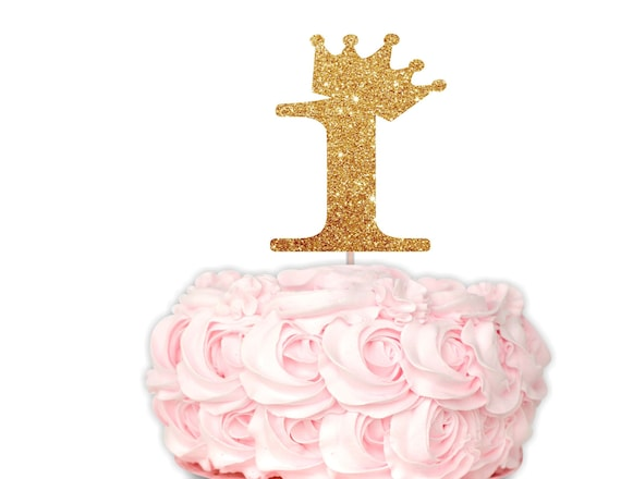 Prime Gold 1 Cake Topper Princess 1St Birthday Cake Topper Crown Etsy Funny Birthday Cards Online Alyptdamsfinfo