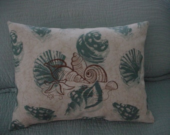 EMBROIDERED SEASHELL PILLOW