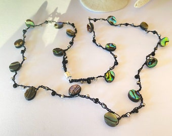 Special Gift Tourmaline and Labradorite Wrap Petite Tourmaline Coin Necklace3X Wrap Bracelet Gemstone /& Sterling Silver Layering Wrap