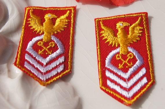 Royal escudo bordado parche de hierro//para coser en insignia Reino Unido brit/ánico Oro Corona