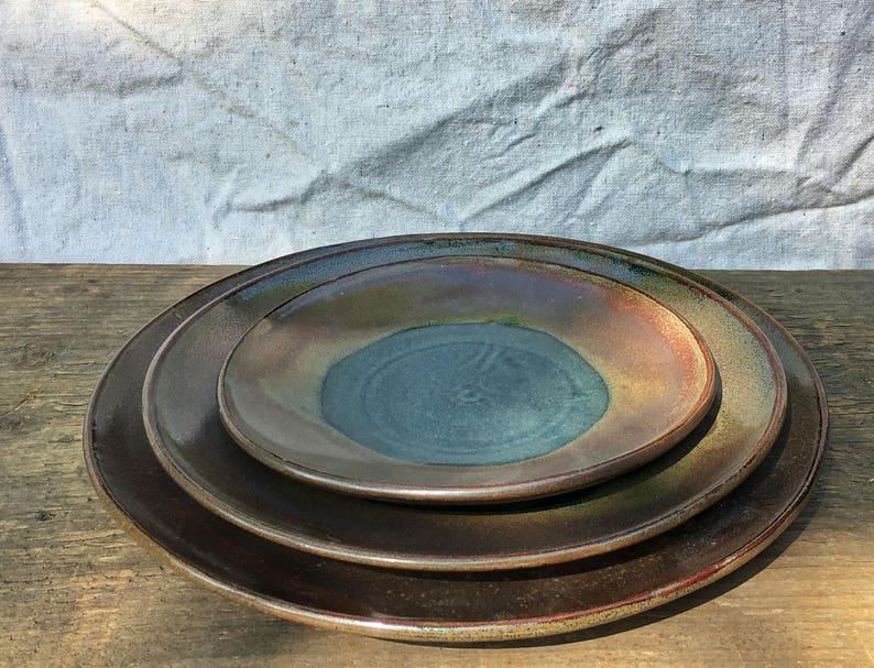 Pottery plate lunch plate medium plate