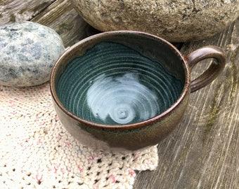 Soup Mug, Handmade Pottery Soup Mug