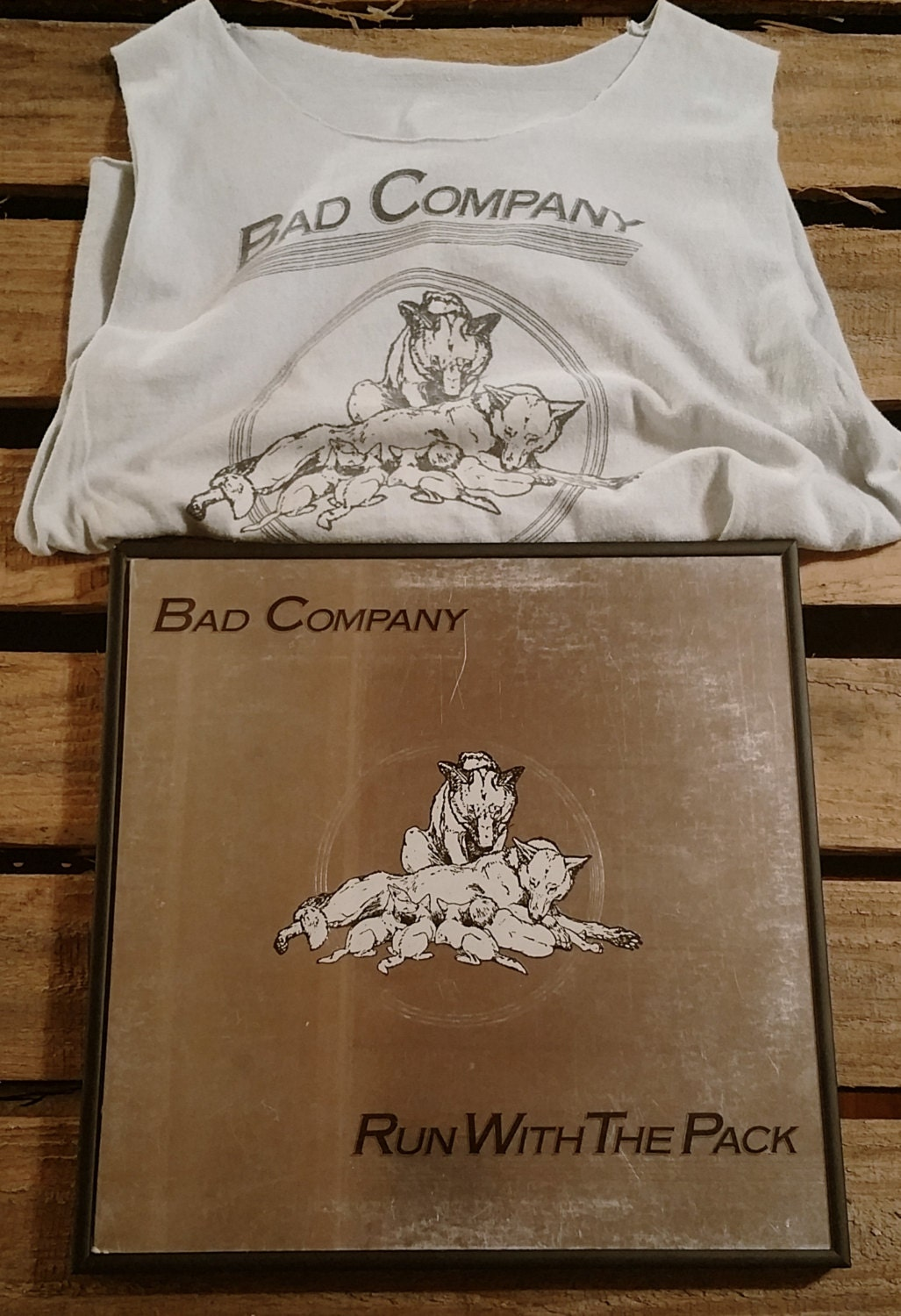 f511b4bb Bad Company *Running with the Pack* Swan Song Records Muscle-T ...