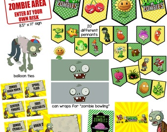 Plants vs Zombies Printables for Birthday Party