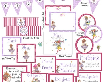 Fancy Nancy-themed Printables for Birthday Party