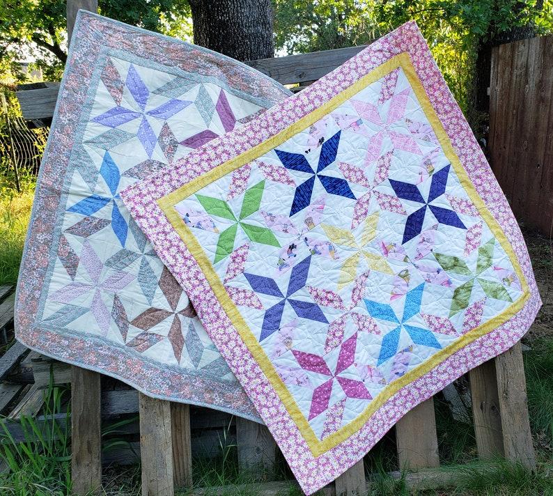 Spinning Stars Baby Quilt pattern