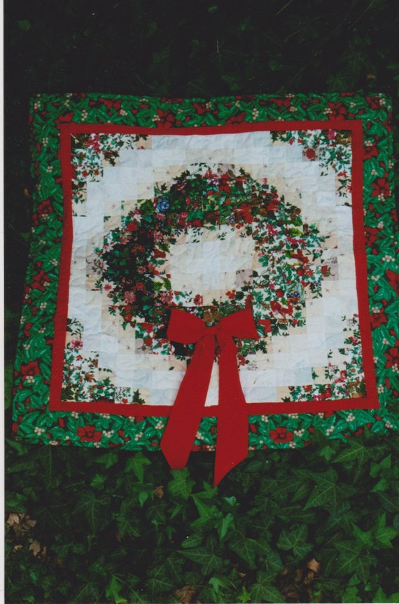 Christmas Wreath Quilt Pattern Etsy