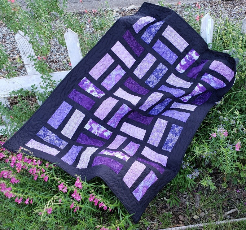 Stained Glass Window Lap Quilt Pattern image 0