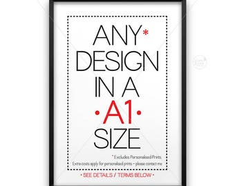 A1 size poster || large wall art, typography print, industrial print, A1 poster, industrial decor, 20 x 30 size, 20x30, upsized print, large