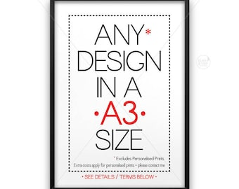 A3 size poster || large wall art, typography print, industrial print, A3 poster, industrial decor, 11 x 14 size, 11x14, upsized print, large