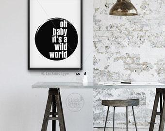 Cat Stevens Impresión de Arte Foto Afiche Regalo citar Salvaje Mundo