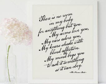 Love You, Adore You || typography print, the princess bride quote, the princess bride print, black and white art, westley, buttercup