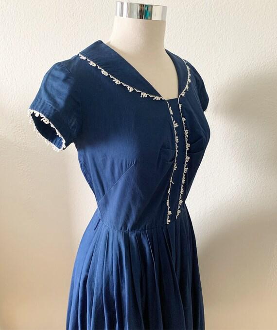 Sailor Inspired Vintage Dress