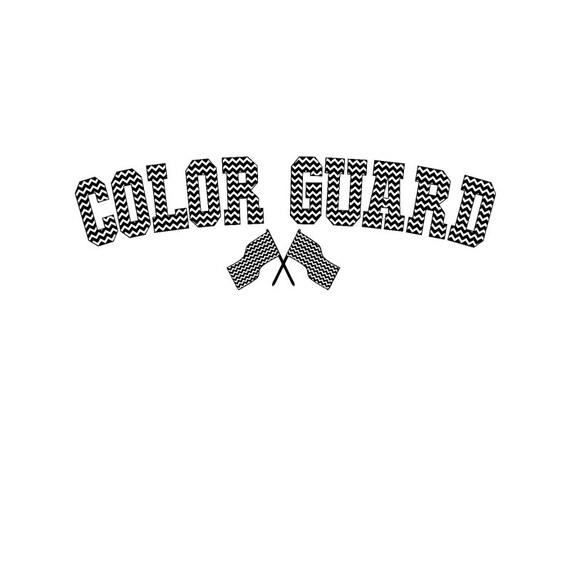 Color Guard Jersey Set Svg Silhouette Studio Png Eps Pdf Etsy