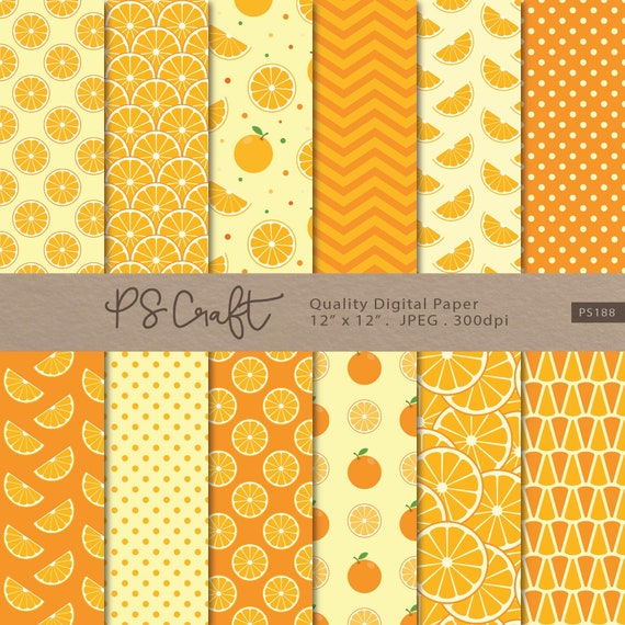 Orange Digital Paper