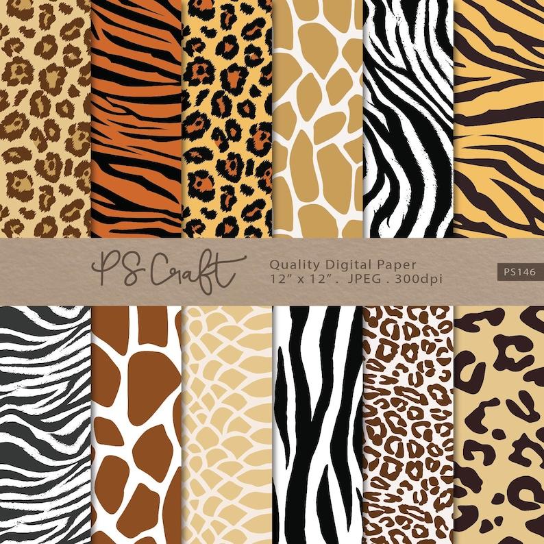 Animal Print Digital Paper Seamless Safari Background Zebra  9636b1a1a