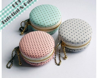 PDF Macaron Coin Purse - Tutorial & Patterns (INSTANT DOWNLOAD)