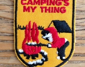 Camping's My Thing Vintage Travel Patch by Voyager