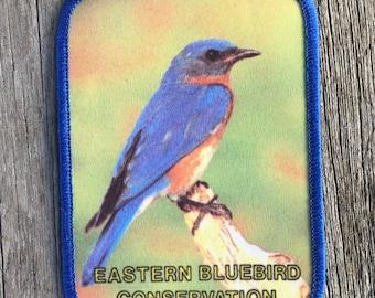 Eastern Bluebird Conservation Vintage Souvenir Patch