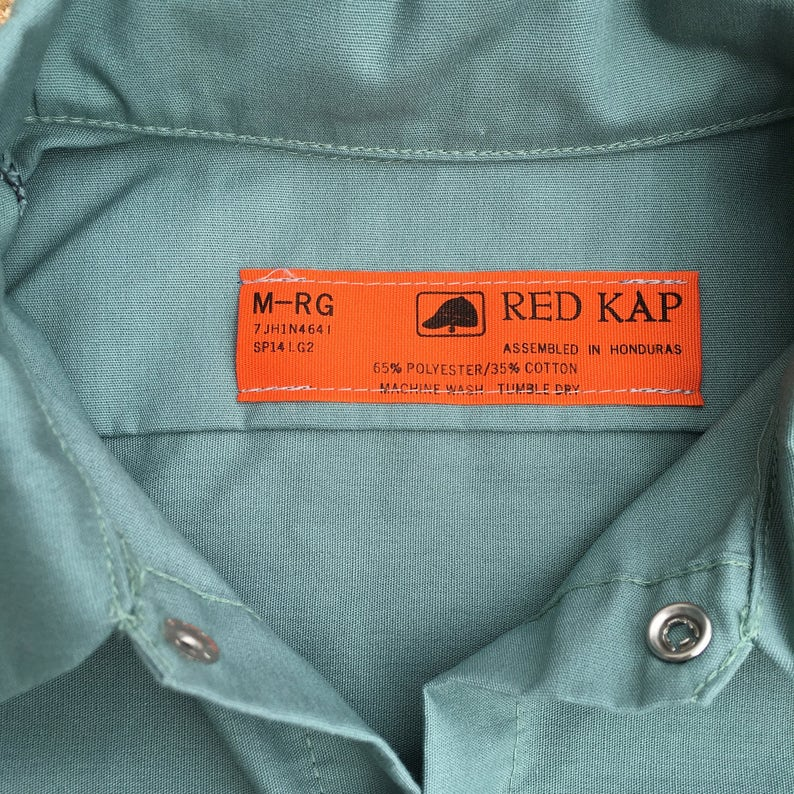 Long Sleeve Size Medium Baugh/'s Industrial Green Central Laundry Work Shirt Change the Name Patch for FREE.