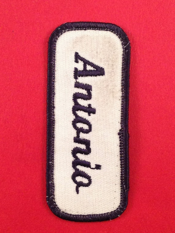 ANTHONY EMBROIDERED SEW ON NAME PATCH LOT OF 3 ~ NAME TAG