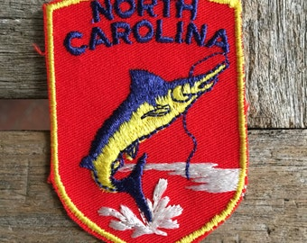 North Carolina Vintage Travel Patch from Voyager