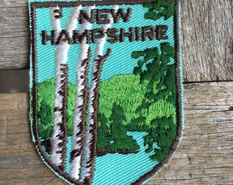 New Hampshire Vintage Souvenir Travel Patch by Voyager