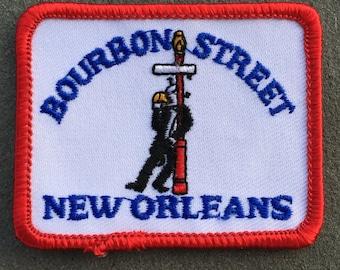 Bourbon Street New Orleans Vintage Souvenir Travel Patch