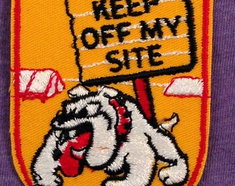 Keep Off My Site Vintage Camping Souvenir Patch by Voyager - New in Original Package